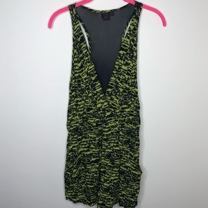 Material Girl Green and Black Romper